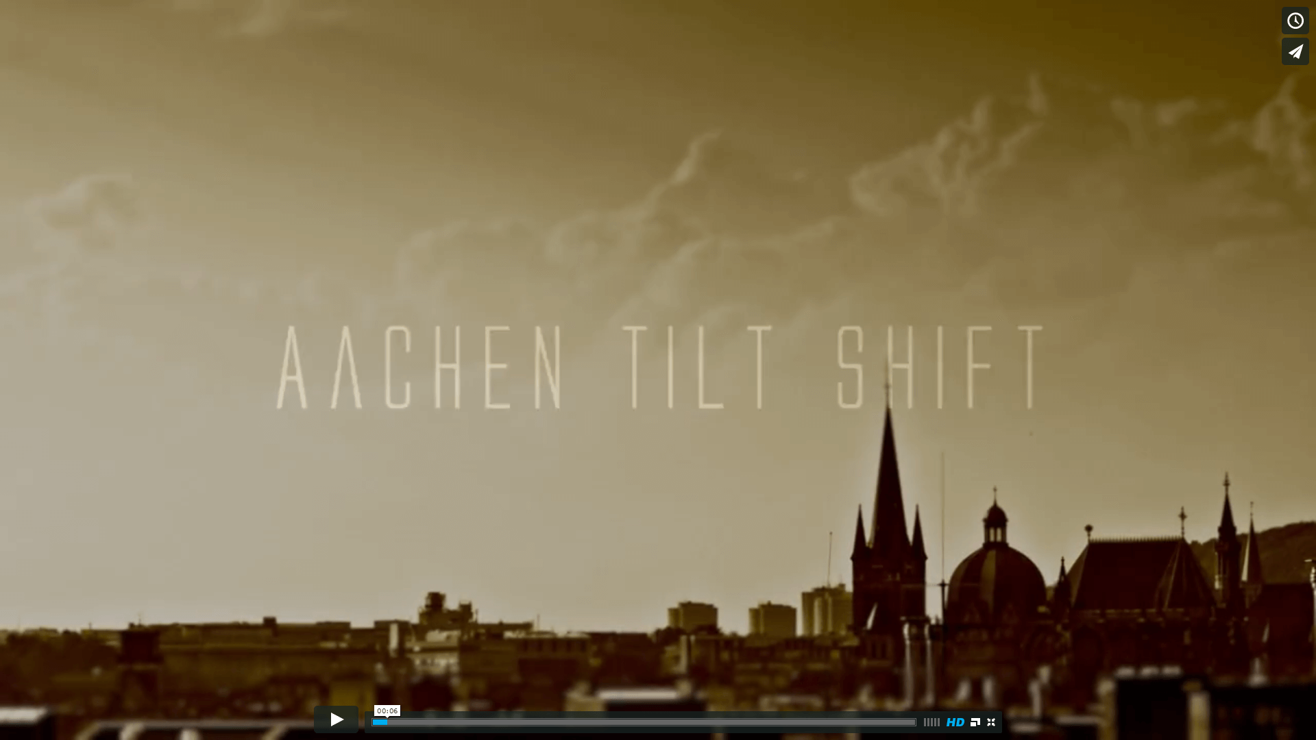 Aachen Tilt Shift Video Title Screencapture
