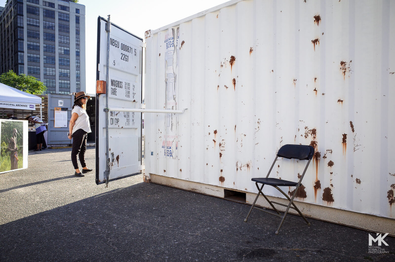 New York Photoville 2015 Containers Outside and Inside