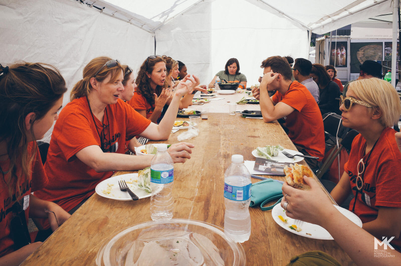 Free meal for Photoville staff and volunteers after Education Day 2015