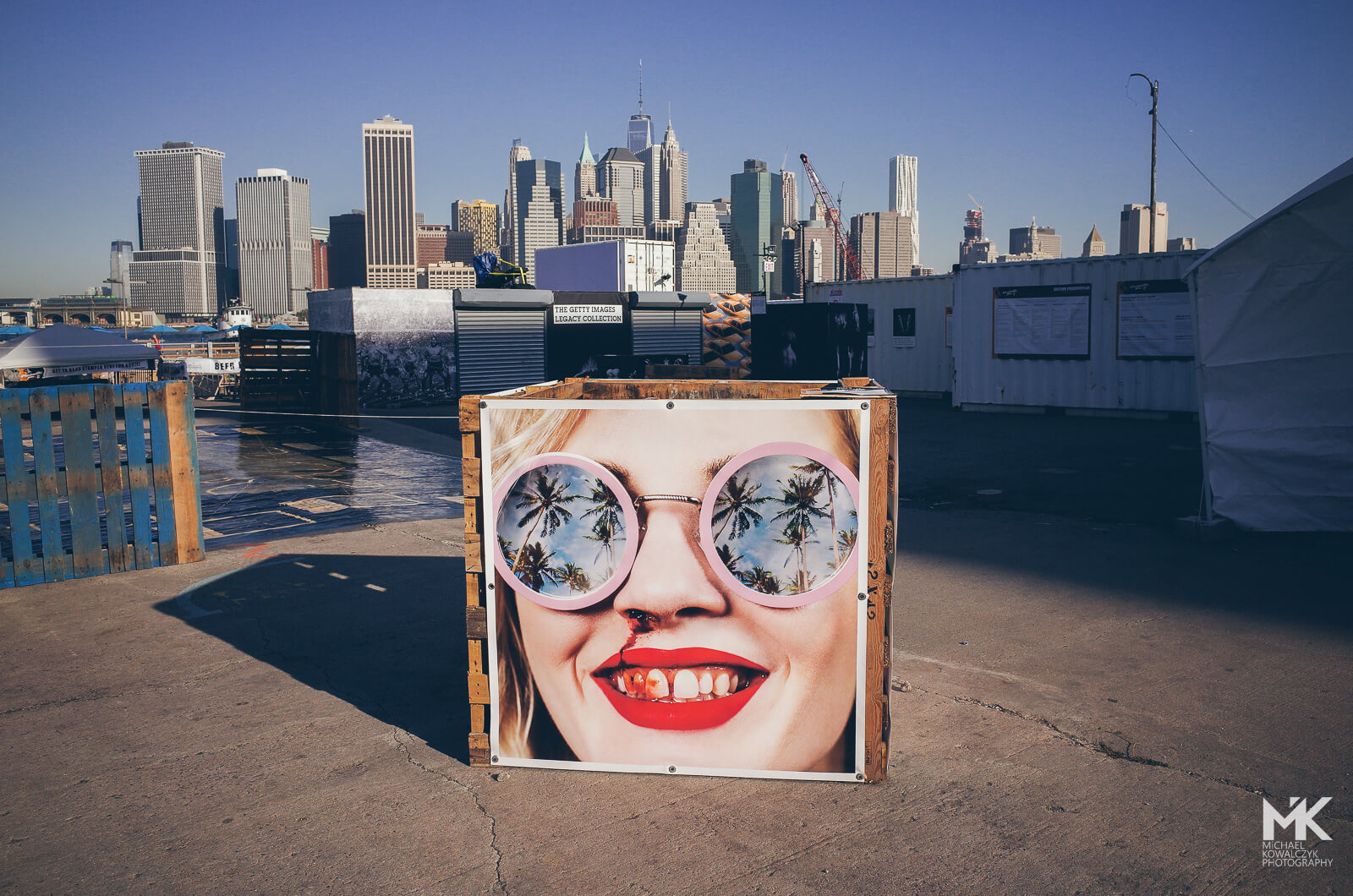 Bloody nose sunglasses portrait new york skyline photoville exhibition education day