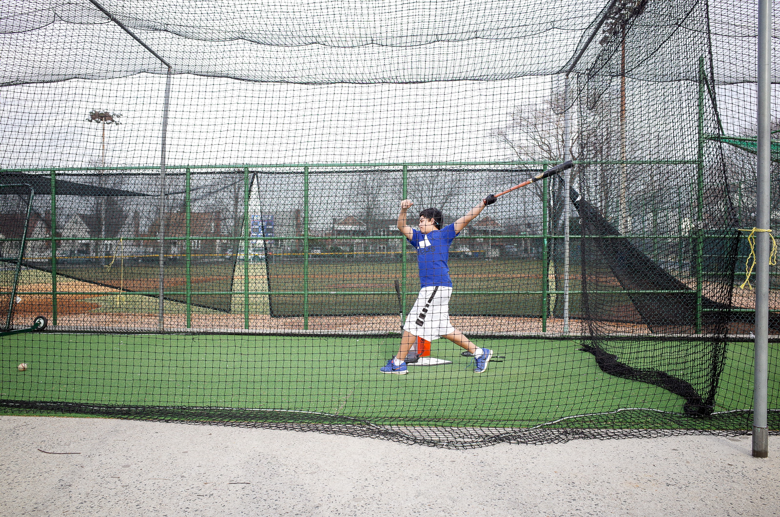 Hitting a Baseball inside the net