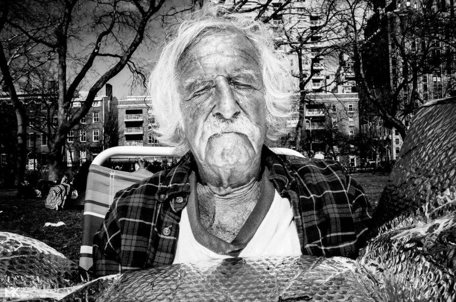 Sun Reflector Guy, Washington Square Park, NYC, 2016