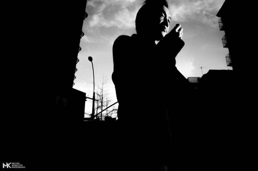 Low Angle Sidelight Portrait, East Broadway, NYC, 2016