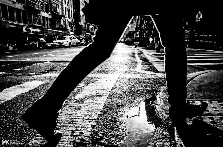 Step Over Puddle, East Broadway, NYC, 2016