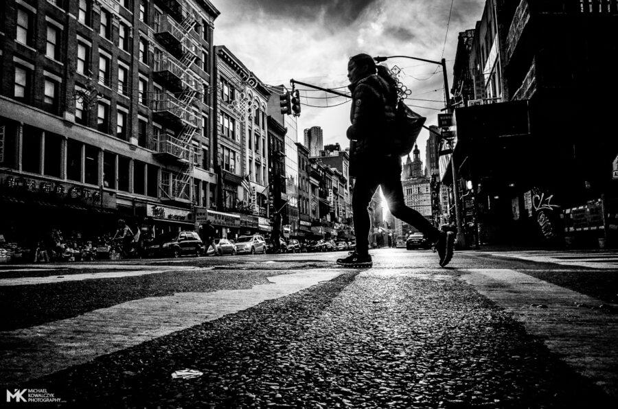 Pedestrian Crossing, East Broadway, NYC, 2016