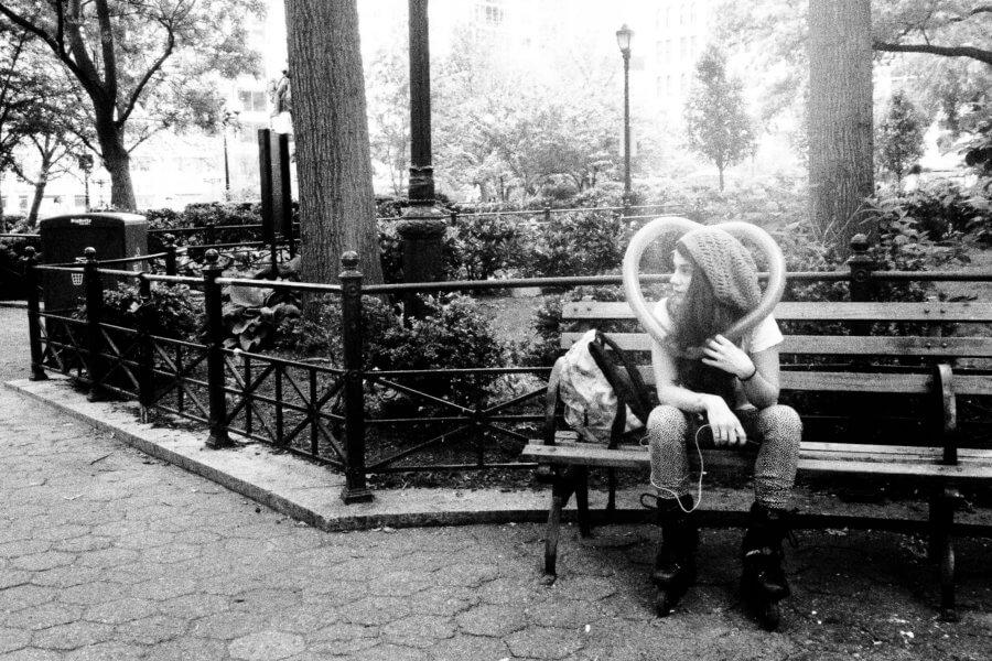 Head Heart, Olympus Tough Grainy Film Street Photography
