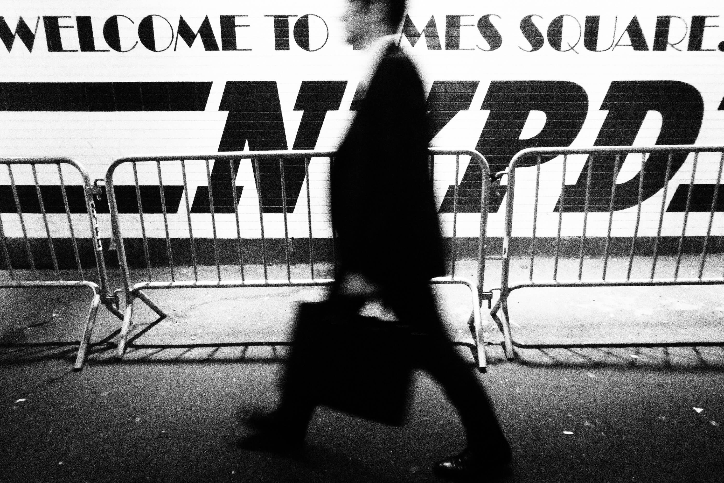 Welcome to Times Square NYPD, Olympus Tough Grainy Film Street Photography