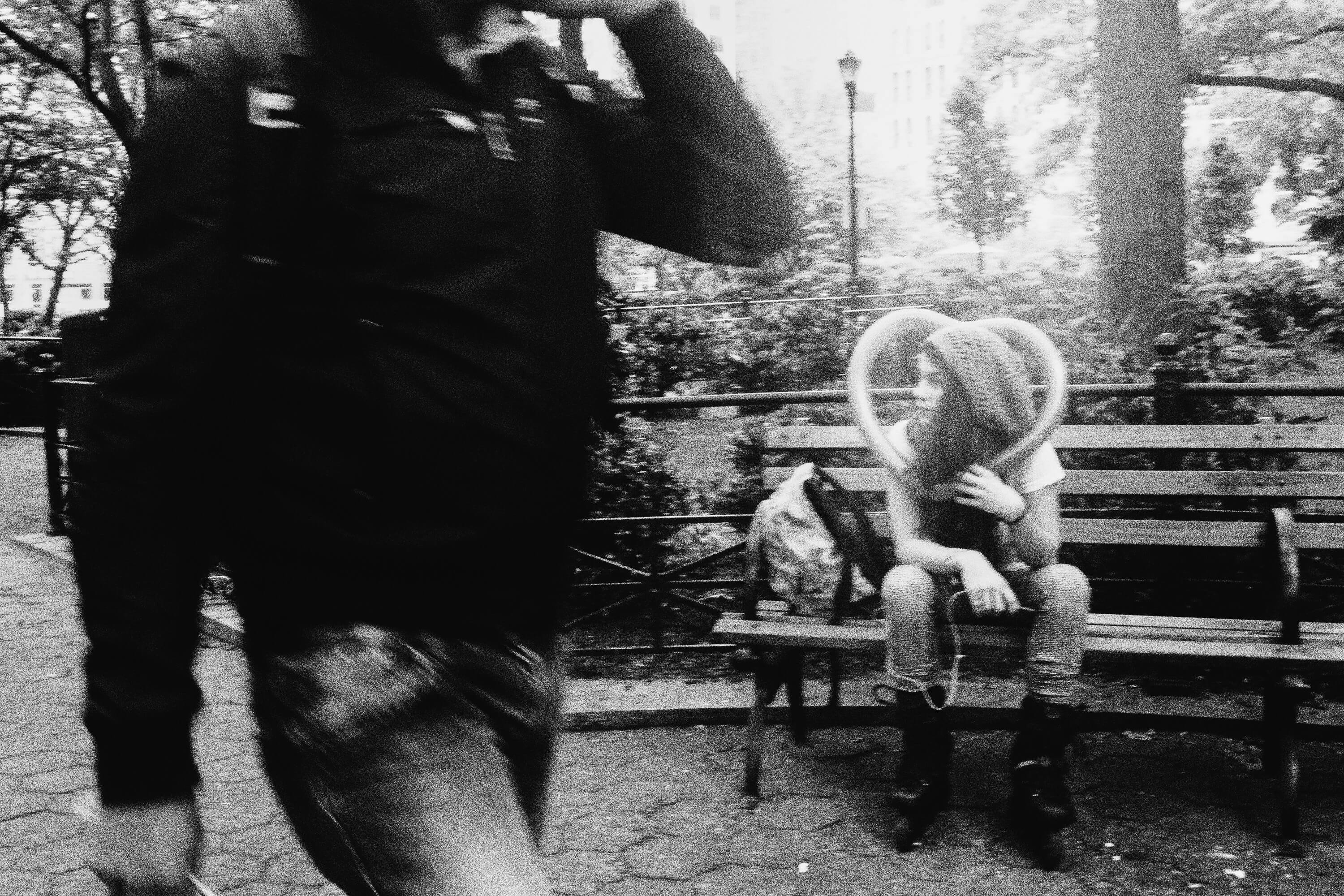 Balloon Heart, Olympus Tough Grainy Film Street Photography
