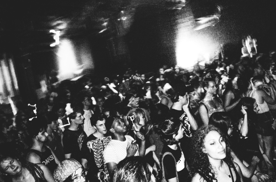 Black and White photos of the XXV Reconstrvct Party in Brooklyn, New York City