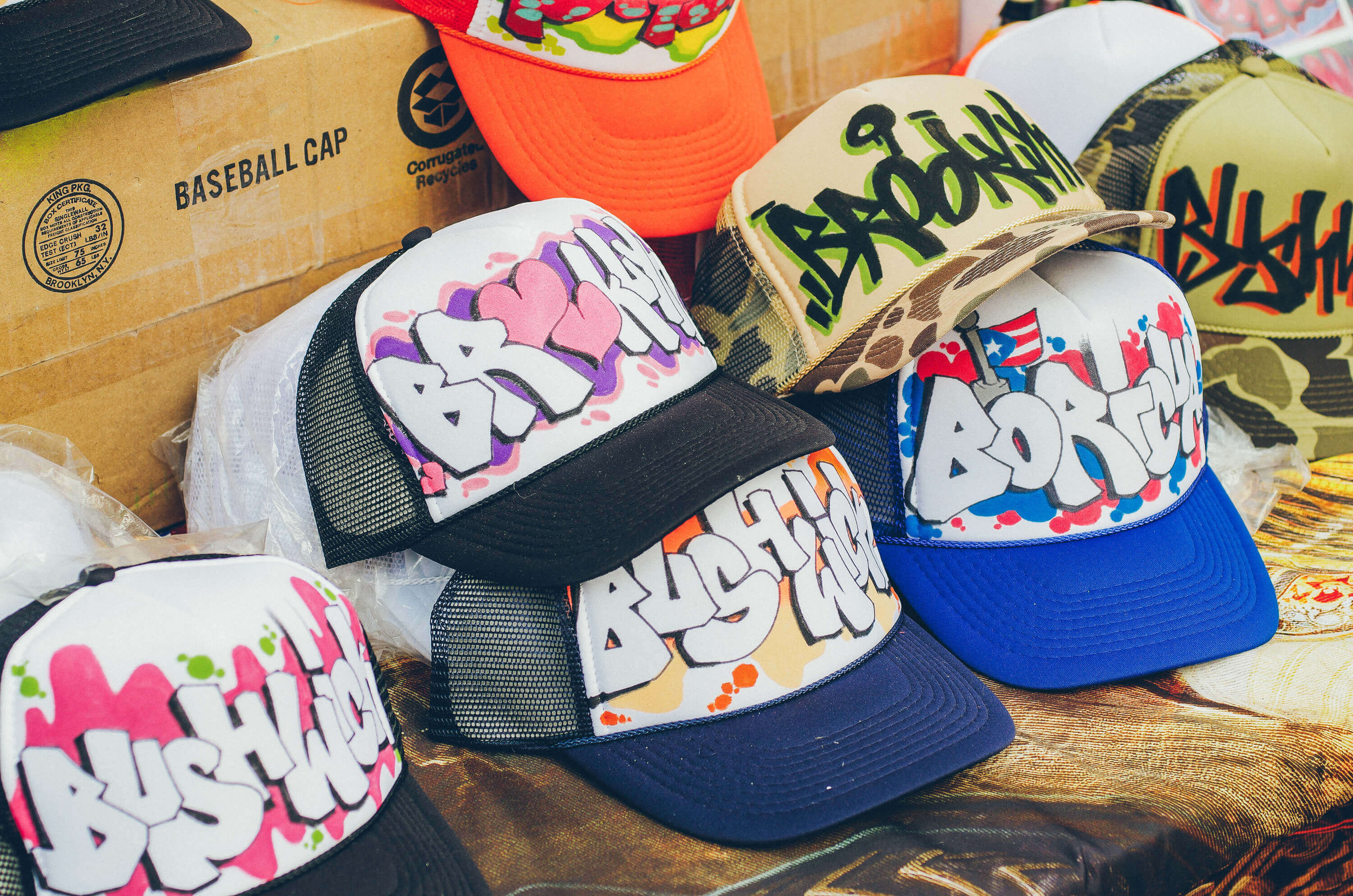 Bushwick Brooklyn Baseball Caps on the Block Party 2016