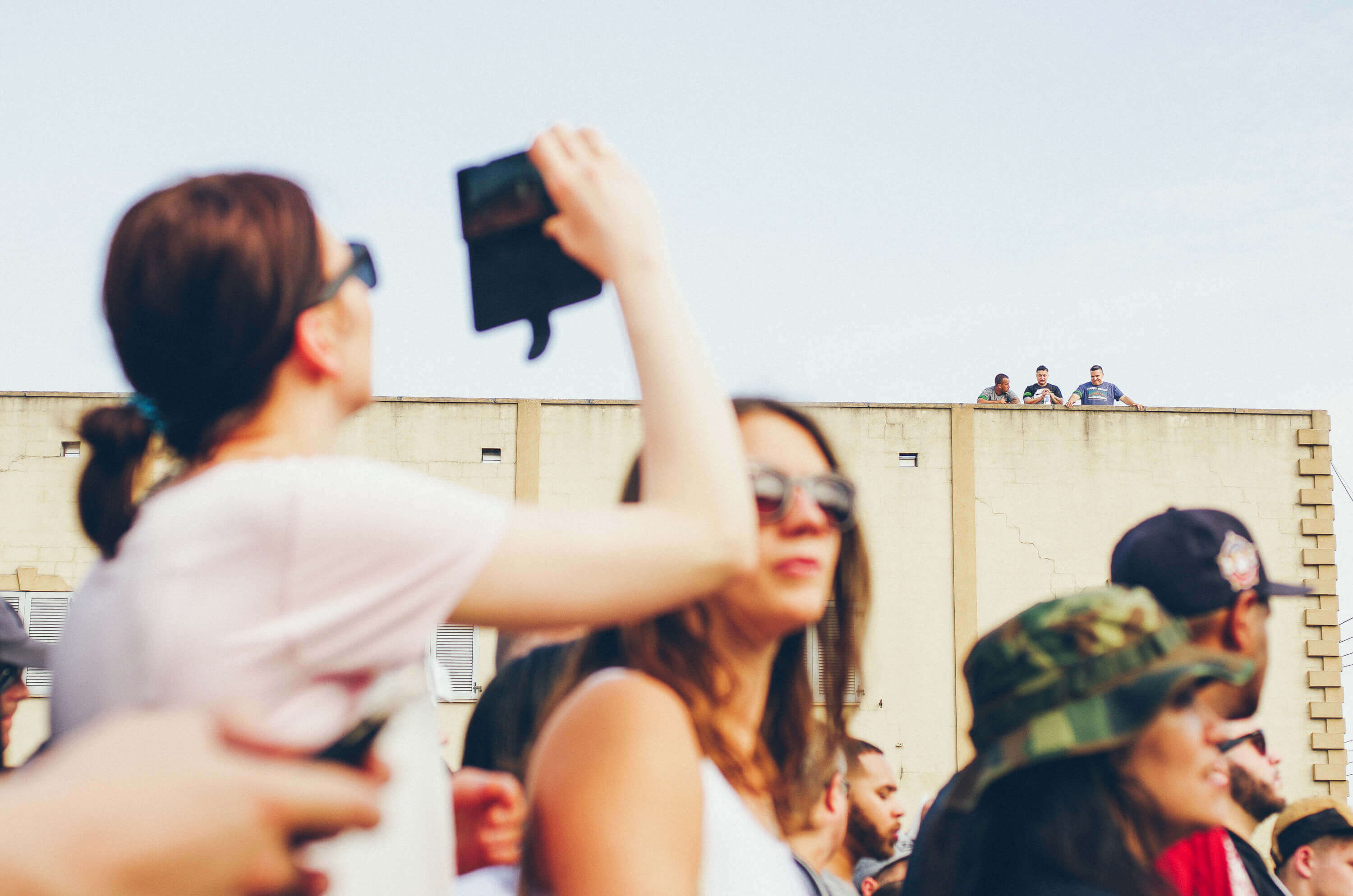 Rooftop Spectators on the Bushwick Collective Block Party 2016