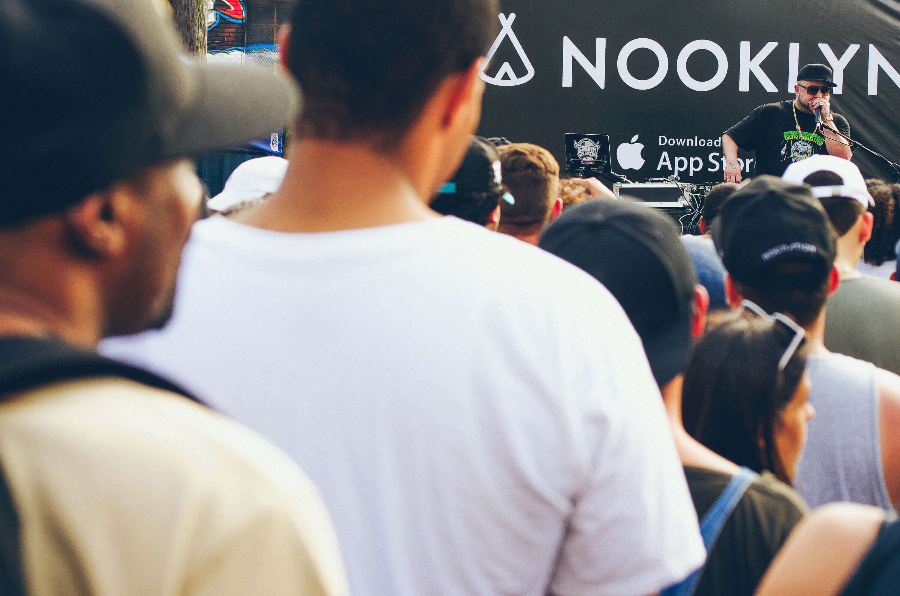 Nooklyn HipHop DJ stage for the Bushwick Collective Block Party 2016