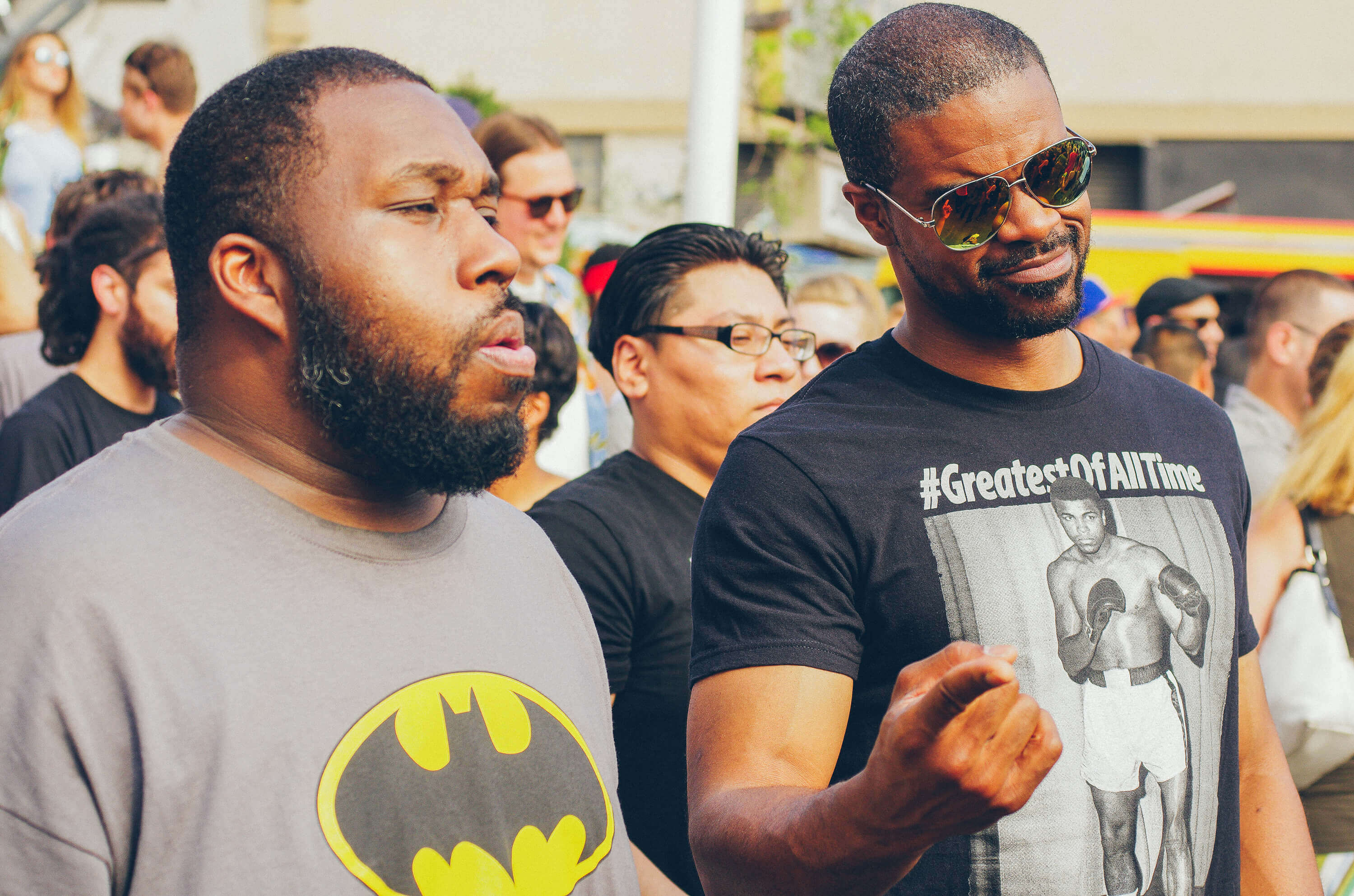 Batman and #TheGreatestOfAllTime on the Bushwick Collective Block Party 2016