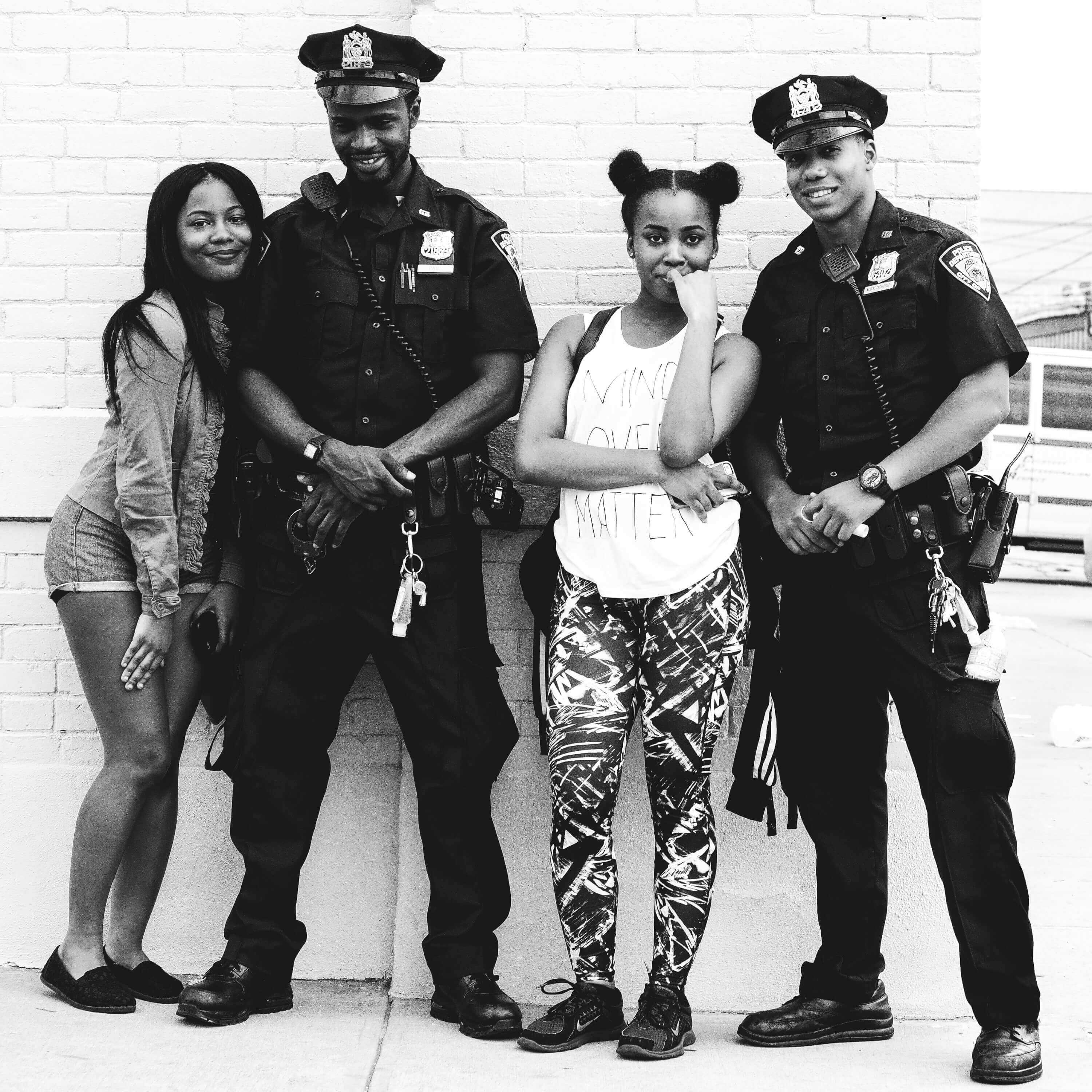 Posing with the Police