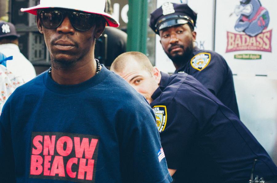 Snow Beach and the NYPD on the Bushwick Collective Block Party 2016