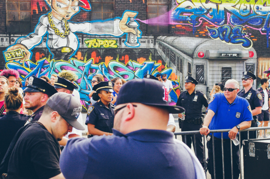 NYPD on standby during the Bushwick Collective Block Party 2016