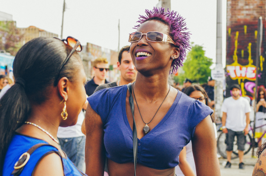 People enjoy the Music on the Bushwick Collective Block Party 2016