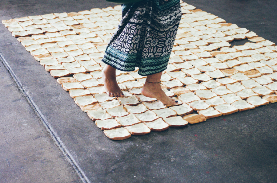 Walking on Toast Bread Performance during the Bushwick Collective Block Party 2016