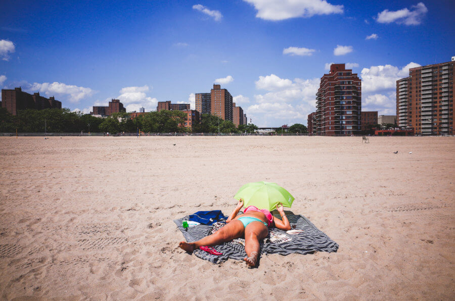 Coney Island, Lying, New York City, People, Ricoh GR, Street Photography