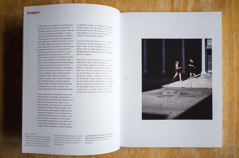 GOLEM Exhibition Catalog Louisa Hall Avatars Page