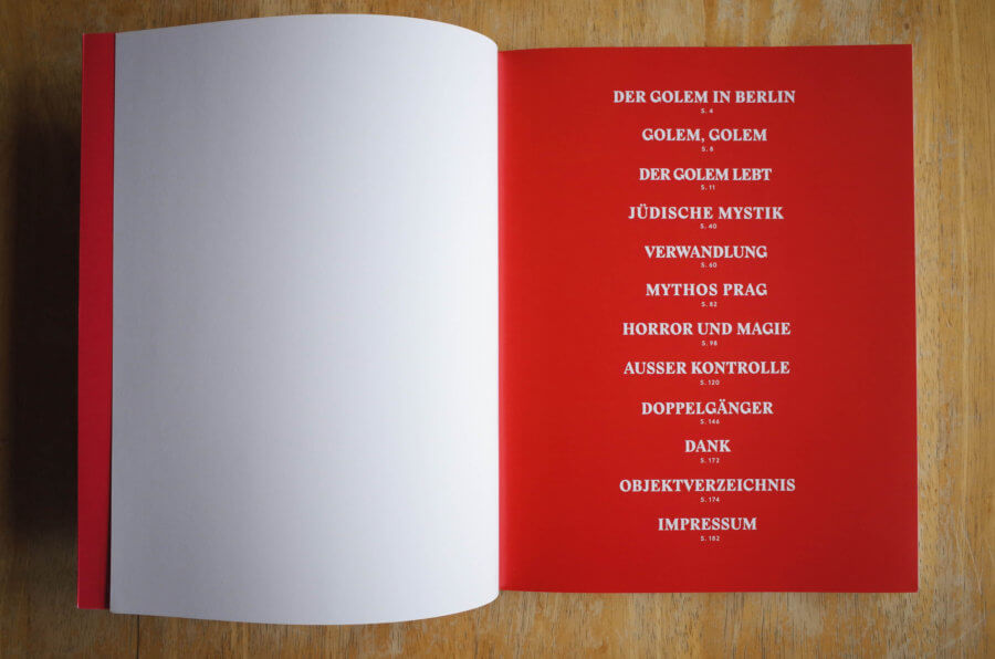 GOLEM Exhibition Catalog Table of Content