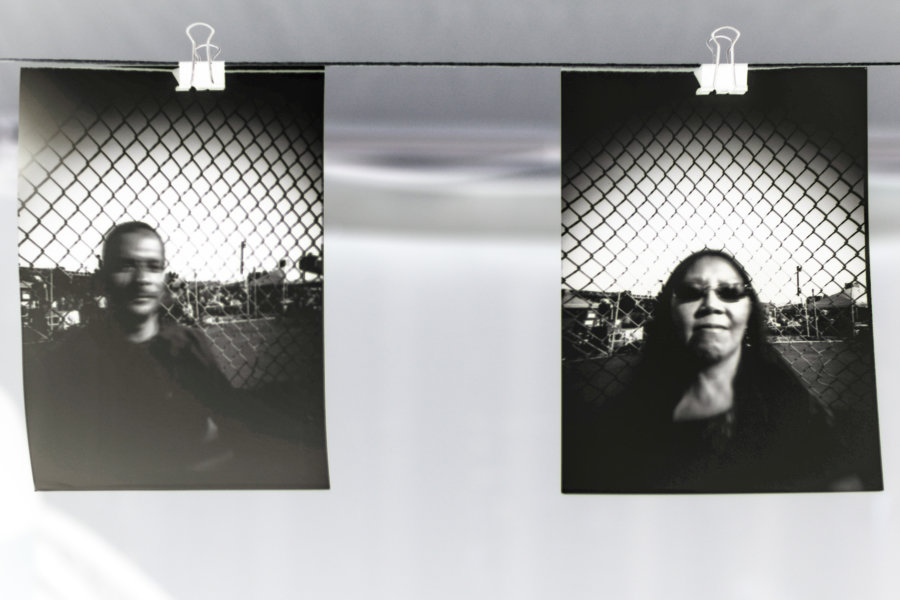 Body Cap Lenses. Pinhole Can-Camera Portraits, Photoville, New York City, 2016