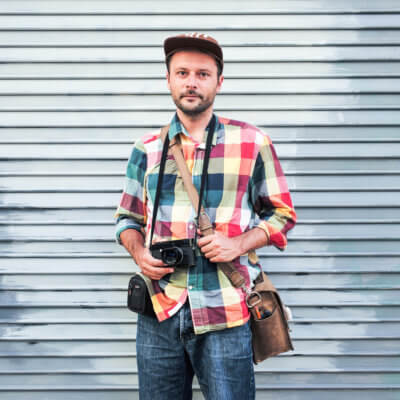 Michael Kowalczyk Portrait with camera - Photo by J.Ruszkiewicz