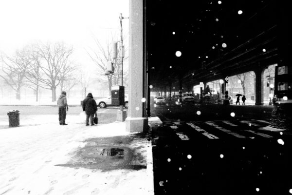 Snow under the 2 Line, Bronx 2016