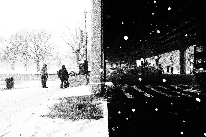 Snow under the 2 Line, Bronx 2016