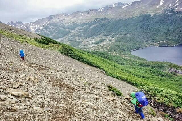 Dientes de Navarino Trekking Over Hill