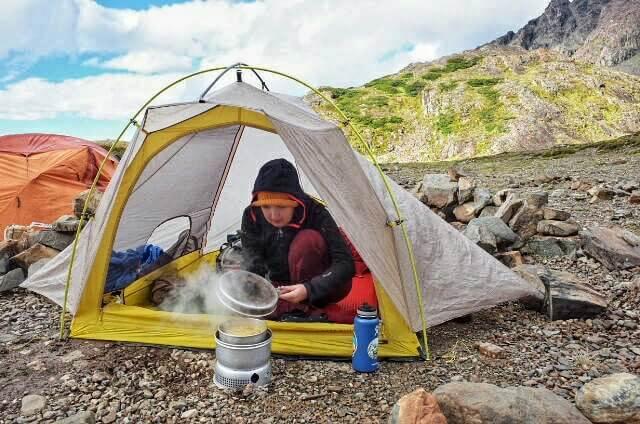 Dientes de Navarino Trekking Tent Cooking Trangia