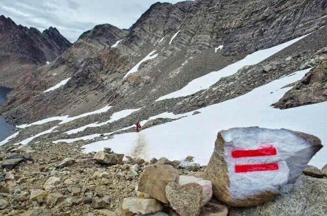 Dientes de Navarino Trekking Snow Trail Marker Stone