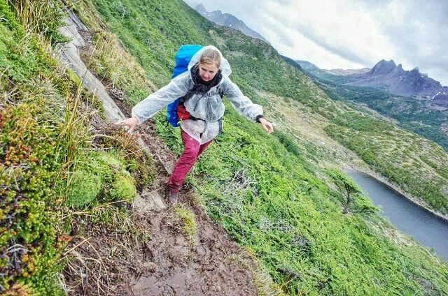 Dientes de Navarino Trekking Mud Climbing