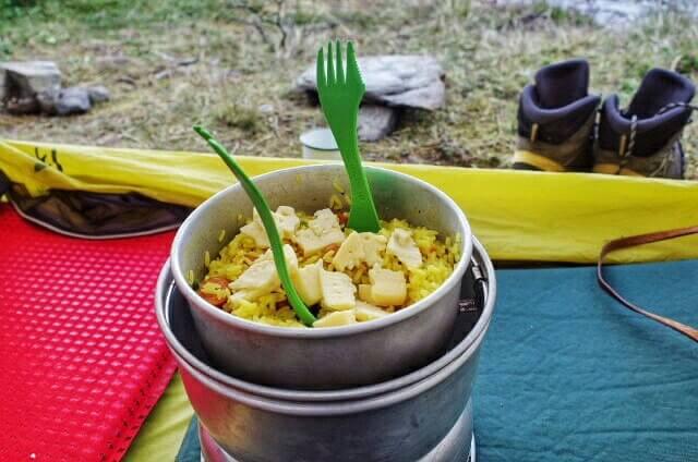 Dientes de Navarino Trekking Cooking Noodle Cheese Trangia