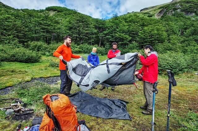 Dientes de Navarino Trekking Tent Packing