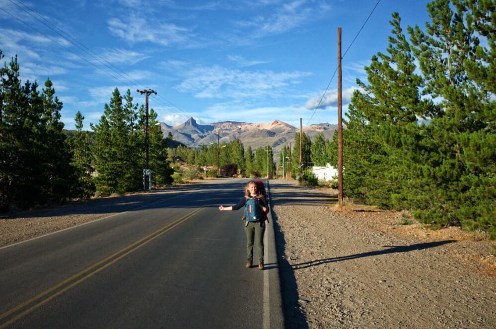 Los Antiguos Hitchhiking Street