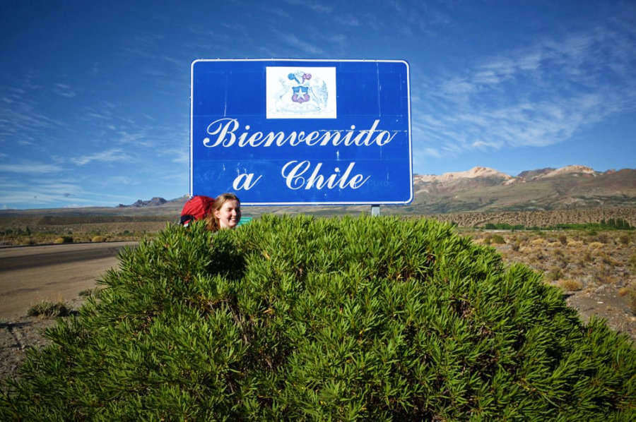 Bienevenido a Chile Sign