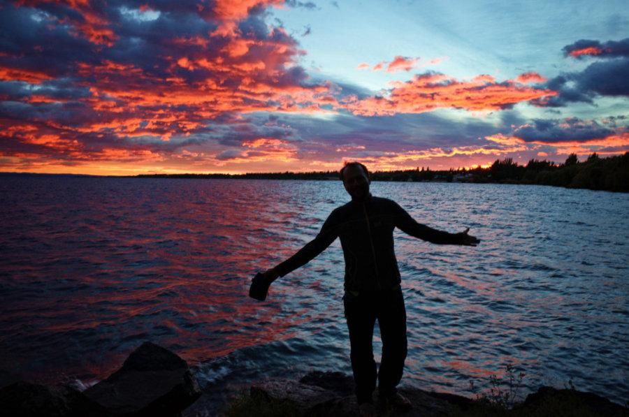 Chile Chico Sunrise over General Carrera Lake