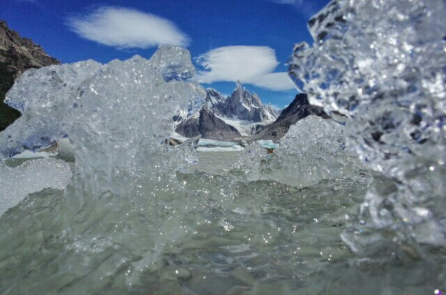 Firtz Roy trough Ice Laguna Torre