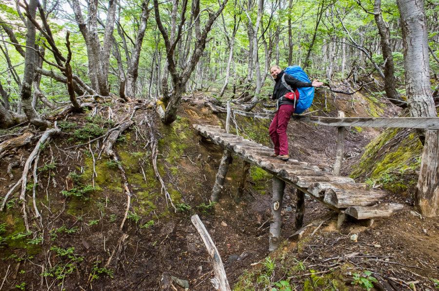 Cerro Castillo Trekking Wooden Bridge