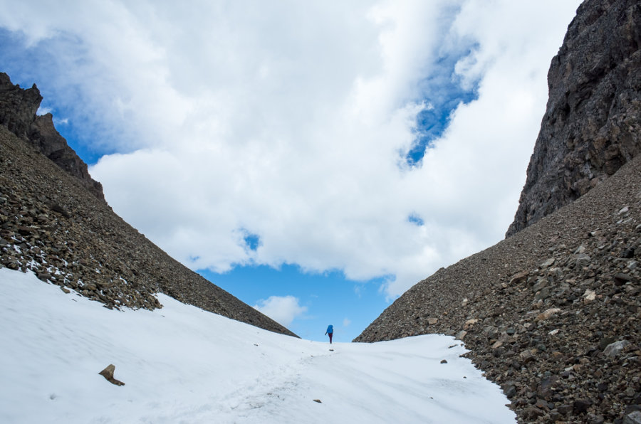 Cerro Castillo Trekking El Penon Pass Snow