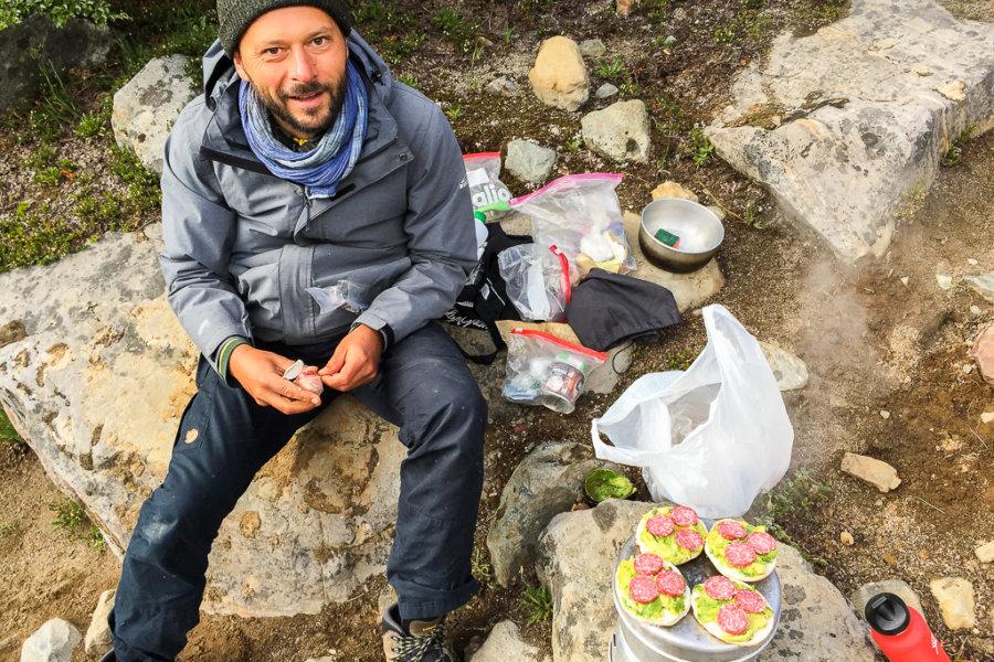 Cerro Castillo Trekking Trangia toasting bread
