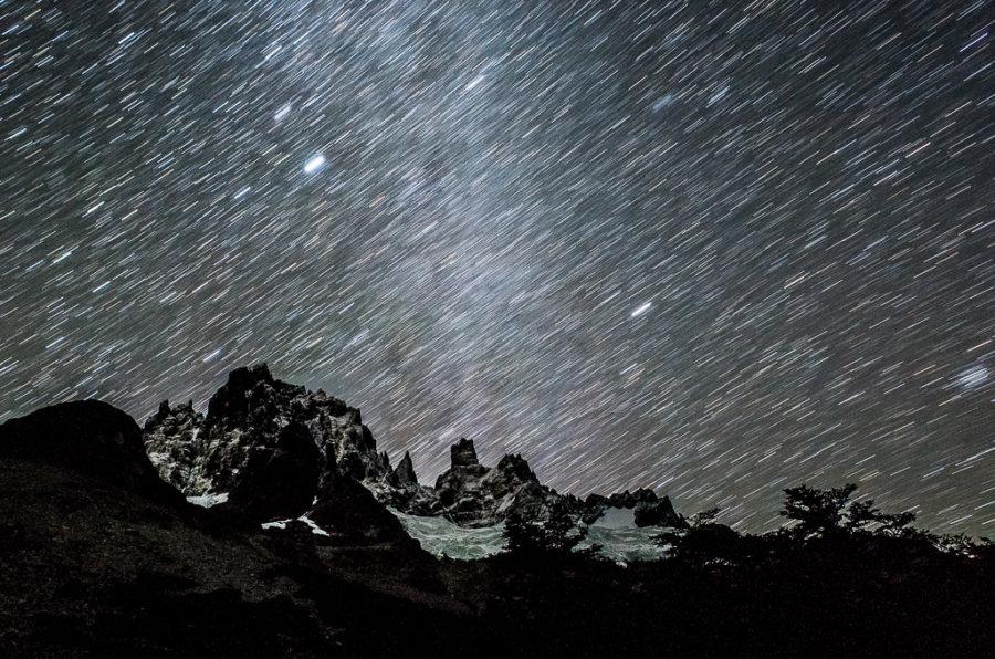 Cerro Castillo Trekking Stars Night Sky Longexposure