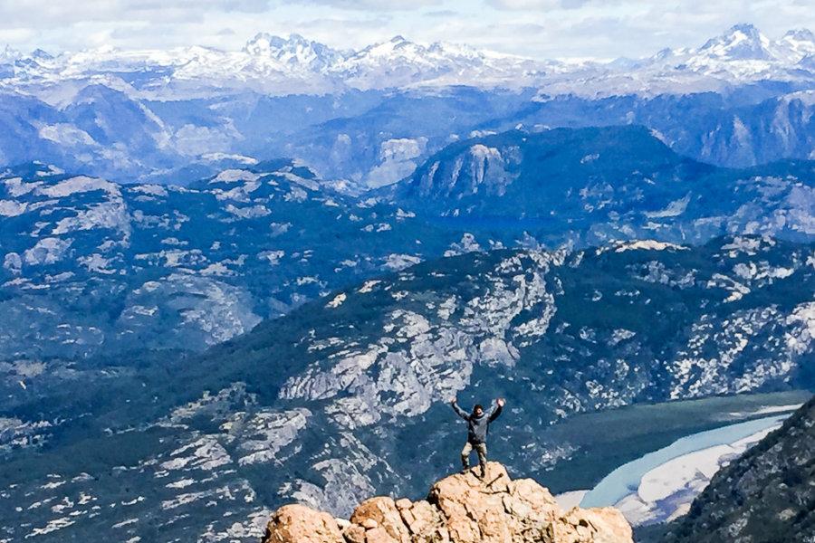 Cerro Castillo Trekking Distant Mountain Range Panorama