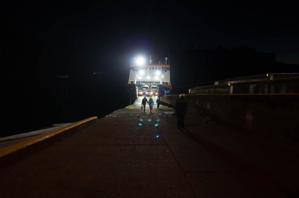 Puerto Montt Ferry Night Boarding