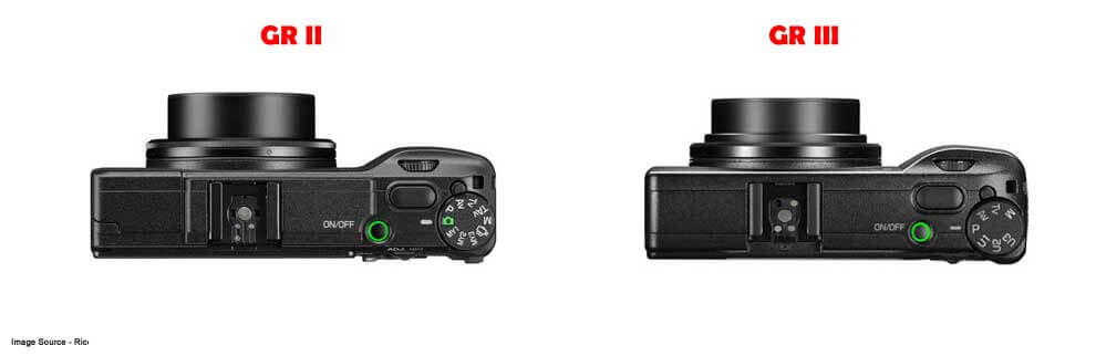 Ricoh GR II vs GR III Comparison Top Lens View