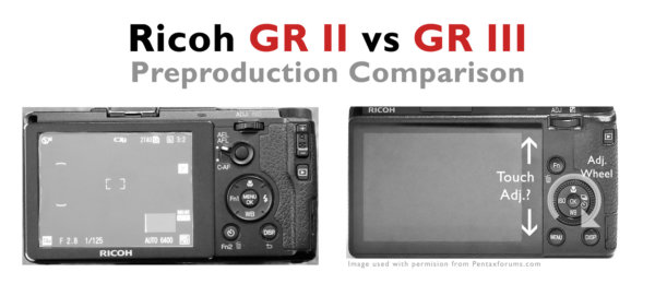 Ricoh GR II vs GR III Preproduction Comparison